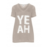 T-Shirt mit Wording-Print