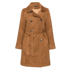 Trenchcoat Caro in Velourslederoptik