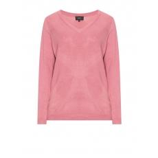 V-Ausschnitt-Pullover aus Feinstrick