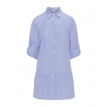 Vichy-Karo-Bluse mit Schößchen