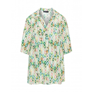 Viskose-Bluse mit Punkte-Print