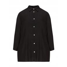 Viskose-Bluse mit Schnürung am Arm