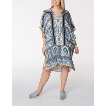 Viskose-Kleid mit Kimonoärmeln