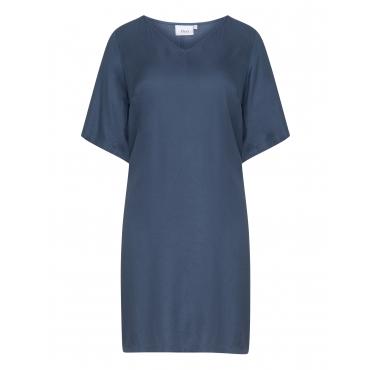 Viskose-Kleid mit V-Ausschnitt