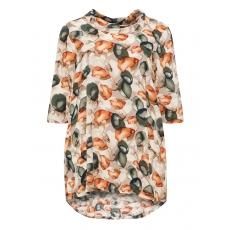 Viskose-Tunika mit floralem Print