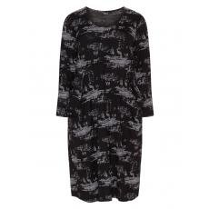 Viskosemix-Kleid mit Taschen