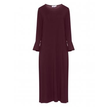 Wadenlanges A-Linien-Kleid aus Jersey