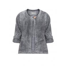Washed-Out-Jacke mit Krempelärmeln
