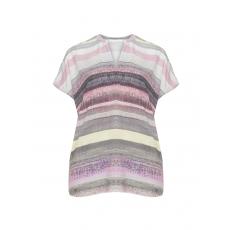 Webstoff-Bluse mit Streifen-Muster