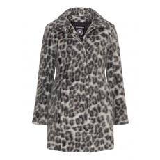 Wollmix-Jacke mit Leoparden-Muster