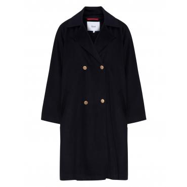 Zweireihiger Oversize-Mantel