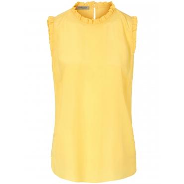 Ärmellose Bluse zum Schlupfen Uta Raasch gelb