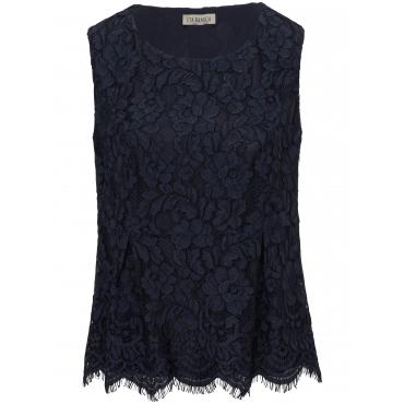 Ärmellose Spitzen-Bluse Uta Raasch blau