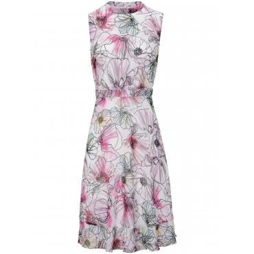 Ärmelloses Kleid comma, mehrfarbig