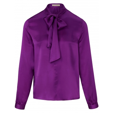 Bluse aus 100% Seide Uta Raasch lila