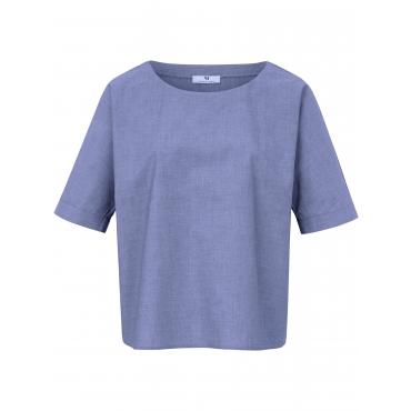 Blusen-Shirt langem 1/2-Arm Peter Hahn blau
