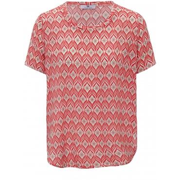 Blusen-Shirt Peter Hahn rot