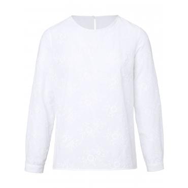 Blusen-Shirt zum Schlupfen Peter Hahn weiss