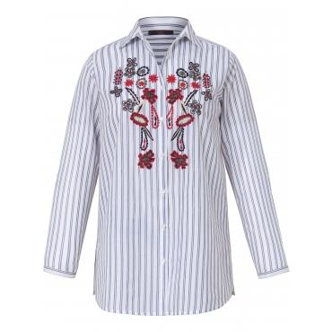 Hemdkragen-Bluse zum Krempeln Emilia Lay mehrfarbig