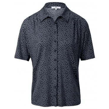 Jersey-Bluse 1/2-Arm Peter Hahn blau