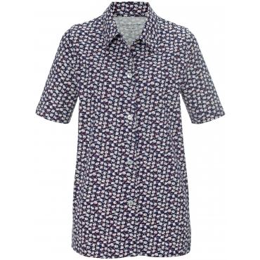 Jersey-Bluse Hemdkragen Green Cotton blau