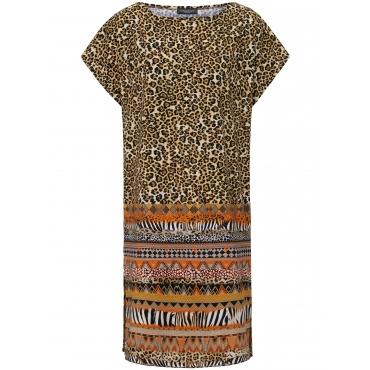 Kleid überschnittener Schulter Grimaldimare mehrfarbig
