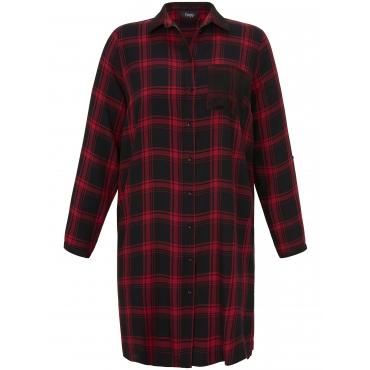 Long-Bluse Hemdkragen FRAPP schwarz