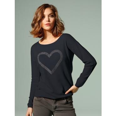 Pullover in reinem Kaschmir Looxent schwarz