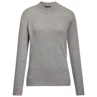 Pullover Stehbund-Kragen Looxent grau