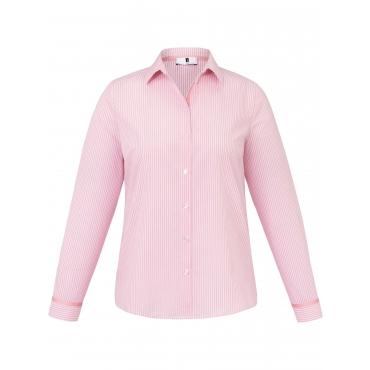 Streifen-Bluse Anna Aura rosé