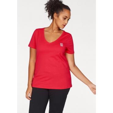 3er Pack T-Shirts, schwarz-weiß-hibiskus, Gr.40/42-56/58