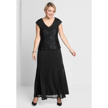 Abendkleid mit Spitze, schwarz, Gr.21-104