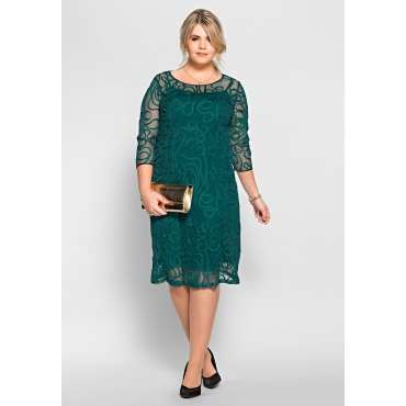 Abendkleid mit Zierborten, smaragd, Gr.40-58