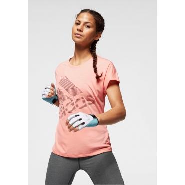 adidas Performance Funktionsshirt »SHORT SLEEVE BATCH OF SPORTS LOGO TEE«, rosa, Gr.L-XXL