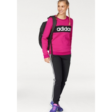adidas Performance Jogginganzug »WOMEN TRACKSUIT COTTON CHILLOUT« (Set, 2 tlg.), pink-schwarz, Gr.L-XXL