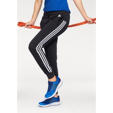 adidas Performance Jogginghose »ESSENTIALS 3 STRIPES PANT CUFFED«, schwarz-weiß, Gr.L-XXL