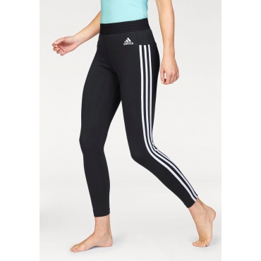 adidas Performance Leggings »ESSENTIALS 3 STRIPES TIGHT«, schwarz-weiß, Gr.L-XXL