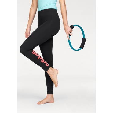 adidas Performance Leggings »ESSENTIALS LINEAR TIGHT«, schwarz-koralle, Gr.L-XXL