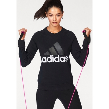 adidas Performance Sweatshirt »ESSENTIAL LIN SWEAT«, schwarz-weiß, Gr.L-XXL