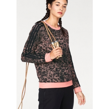 adidas Performance Sweatshirt »WOMAN ESSENTIAL AOP SWEATSHIRT«, rosa, Gr.L-XXL