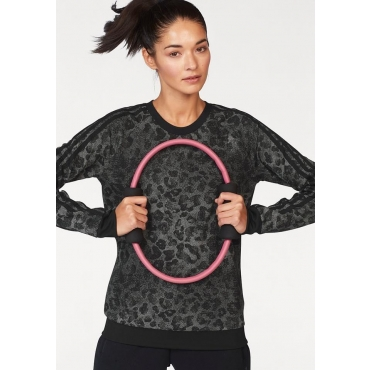 adidas Performance Sweatshirt »WOMAN ESSENTIAL AOP SWEATSHIRT«, schwarz, Gr.L-XXL