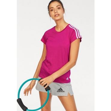 adidas Performance T-Shirt »ESSENTIALS 3S SLIM TEE«, beere-weiß, Gr.L-XXL