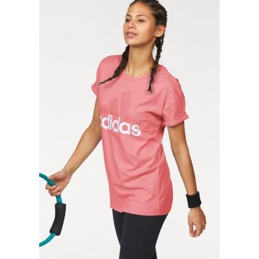 adidas Performance T-Shirt »ESSENTIALS LINEAR LOOSE TEE«, rosa, Gr.L-XXL