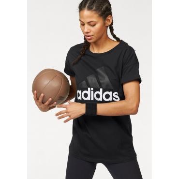 adidas Performance T-Shirt »ESSENTIALS LINEAR LOOSE TEE«, schwarz, Gr.L-XXL