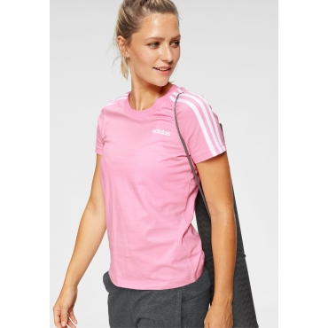adidas T-Shirt »ESSENTIALS 3 STRIPES SLIM TEE«, rosa, Gr.L-XXL