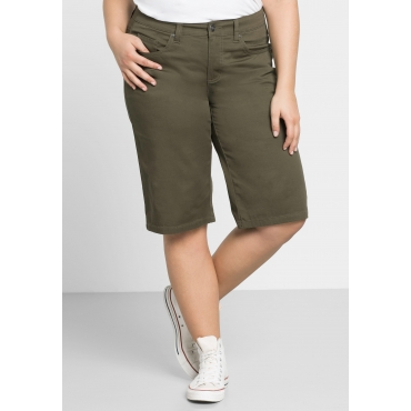 BASIC Bermudas in 5-Pocket-Form, dunkelkhaki, Gr.44-58