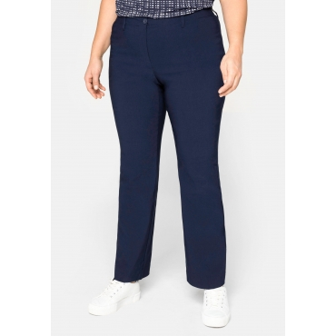 BASIC Bootcut Bengalin-Stretch-Hose, marine, Gr.20-116