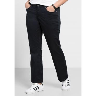 Bootcut-Stretch-Hose aus Baumwolle, schwarz, Gr.40-104