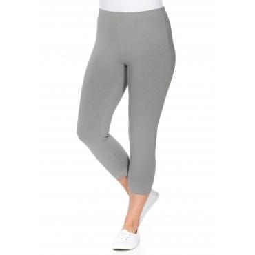 BASIC Capri-Leggings mit Gummizugbund, grau, Gr.40-58