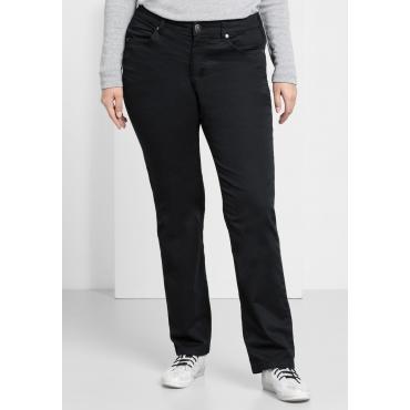 BASIC Gerade Stretch-Hose mit Eingrifftaschen, schwarz, Gr.22-104